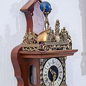 Винтаж ручной работы. Ярмарка Мастеров - ручная работа Часы с боем Uur настенные антиквариат механические раритет полировка т. Handmade.