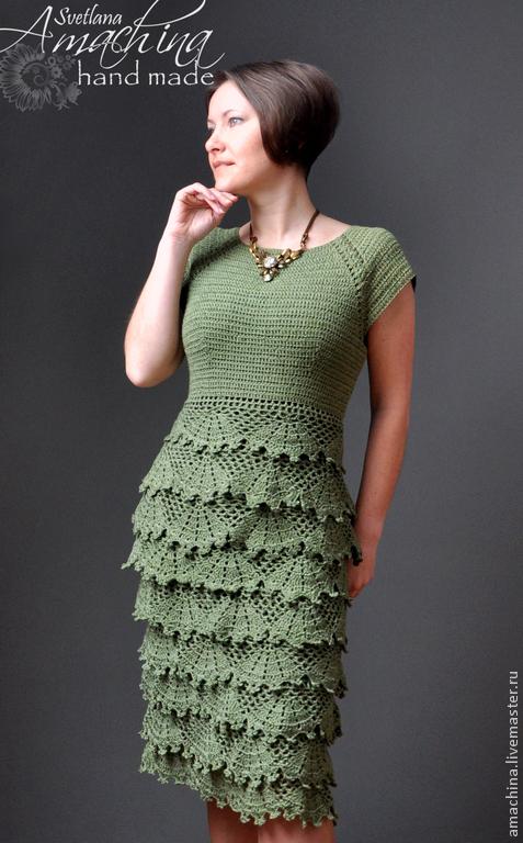 Схемы и выкройки вязаных прикольных платьев
