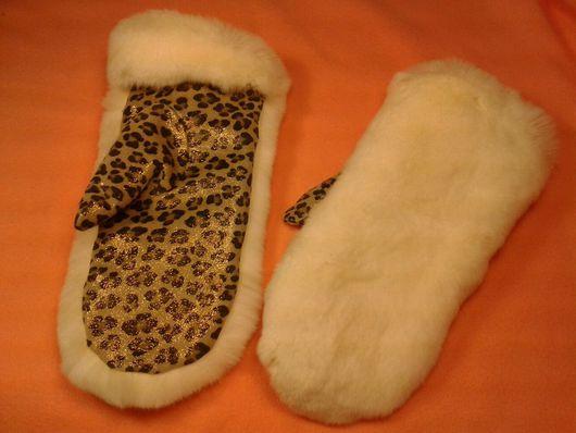 Варежки, митенки, перчатки ручной работы. Ярмарка Мастеров - ручная работа. Купить Варежки из натурального меха кролика рекс. Handmade.