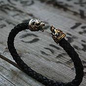 Украшения handmade. Livemaster - original item Bracelet leather - Bear. Handmade.