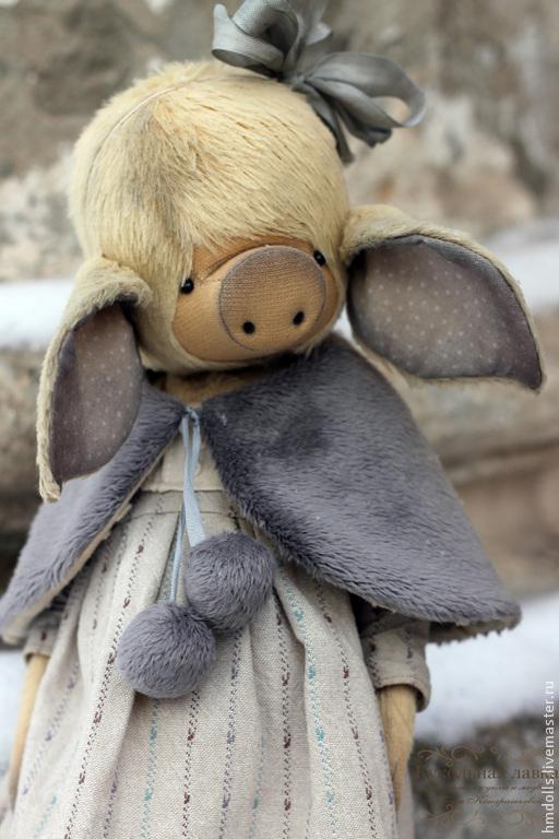Мишки Тедди ручной работы. Ярмарка Мастеров - ручная работа. Купить Мимоза. Handmade. Мишка тедди, хрюшка, гранулят металлический