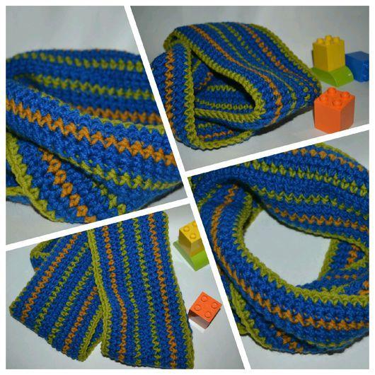 Шапки и шарфы ручной работы. Ярмарка Мастеров - ручная работа. Купить Детский шарф снуд для мальчика. Handmade. Шарф, горчичный