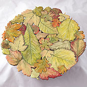 Посуда handmade. Livemaster - original item Openwork dish Autumn leaves D39cm. Handmade.