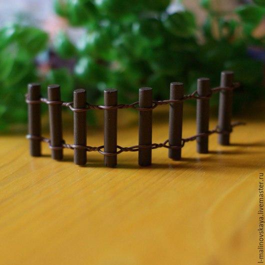 Материалы для флористики ручной работы. Ярмарка Мастеров - ручная работа. Купить Элементы для микросадика (заборчик). Handmade. Разноцветный, минисад, забор