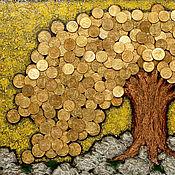Панно ручной работы. Ярмарка Мастеров - ручная работа Панно денежное дерево. Handmade.