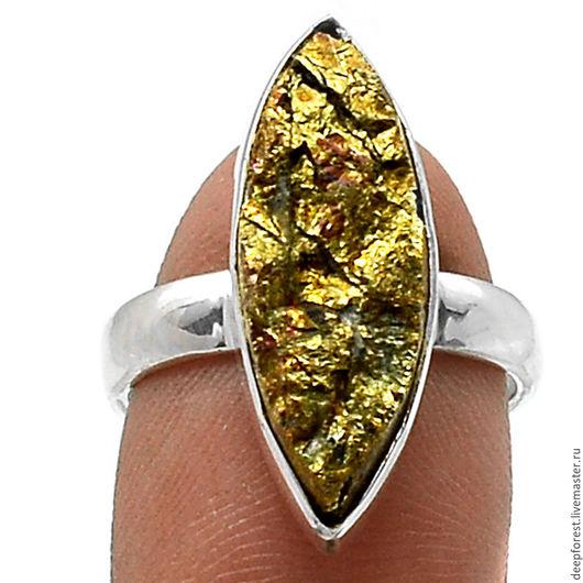 Кольца ручной работы. Ярмарка Мастеров - ручная работа. Купить Кольцо перуанский золотой Пирит. Handmade. Кольцо ручной работы