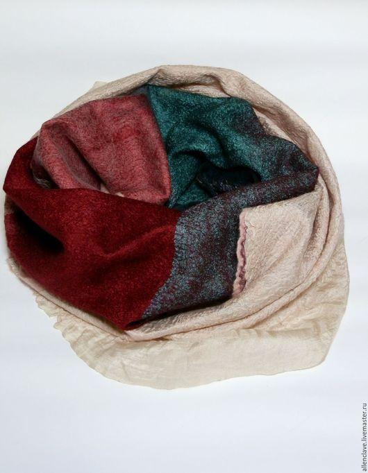 Шарфы и шарфики ручной работы. Ярмарка Мастеров - ручная работа. Купить шарф валяный Букет красок. Handmade. Разноцветный