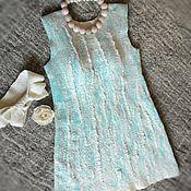 """Одежда ручной работы. Ярмарка Мастеров - ручная работа Валяное платье """"Mint sea"""". Handmade."""
