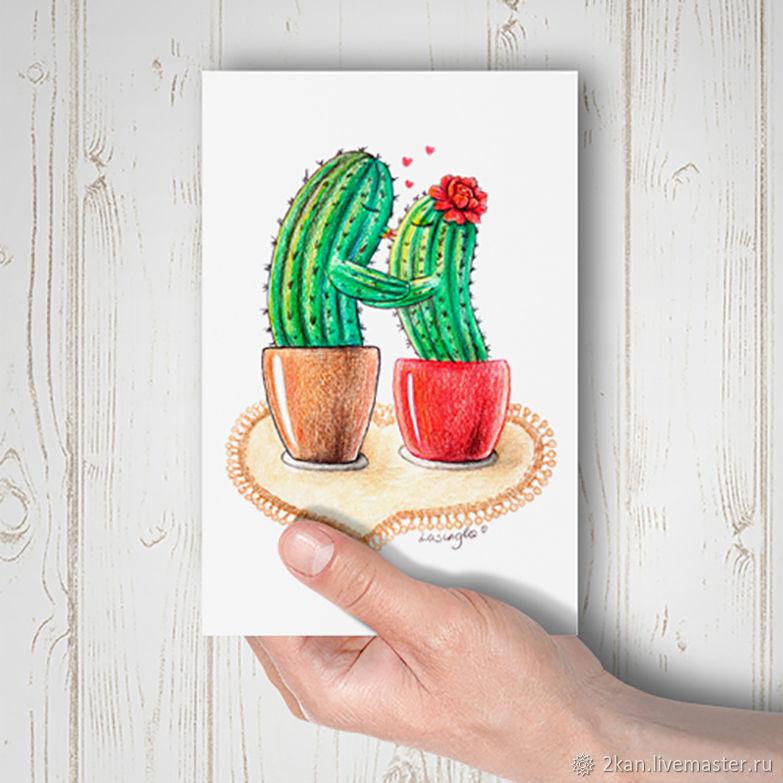 фотостудии почтовая открытка кактус подать