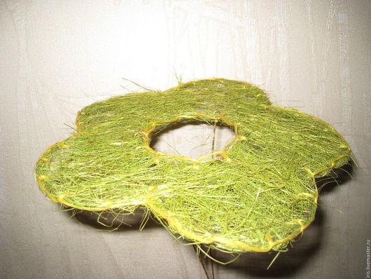 `Цветок` - 75 руб Сизаль нежно-зелёный Диаметр - 21 см