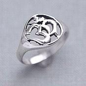 Rings handmade. Livemaster - original item Silver ring Om. Handmade.