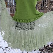 """Одежда ручной работы. Ярмарка Мастеров - ручная работа Юбка вязаная """"Яблоко на снегу"""". Handmade."""