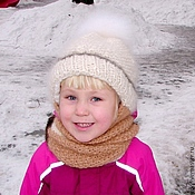 Аксессуары handmade. Livemaster - original item Children`s winter hat