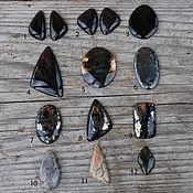 Материалы для творчества handmade. Livemaster - original item Cabochons agate, pyrite, Jasper, Hawkeye. Handmade.