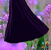 """Одежда ручной работы. Ярмарка Мастеров - ручная работа Бархатная фиолетовая юбка """"Фиолетовый сад"""". Handmade."""