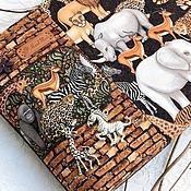 Сумки и аксессуары ручной работы. Ярмарка Мастеров - ручная работа notte al museo сумка клатЧ через плечо Африка зебра жираф джинс купить. Handmade.