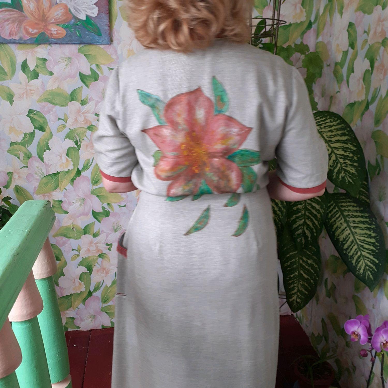 Платье-халат из льна, Платья, Темрюк,  Фото №1