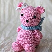 Куклы и игрушки ручной работы. Ярмарка Мастеров - ручная работа Розовый медвежонок. Handmade.