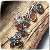 Украшения handmade. Livemaster - original item Brooch-pendant with tourmalines