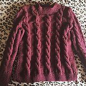 Одежда ручной работы. Ярмарка Мастеров - ручная работа Вязаный свитер с косами. Handmade.