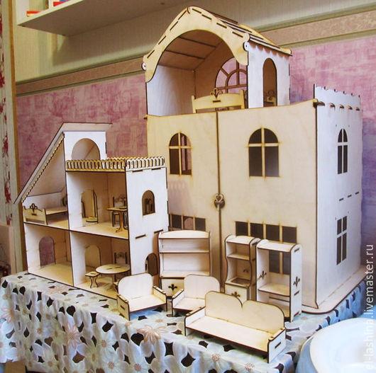 Кукольный дом ручной работы. Ярмарка Мастеров - ручная работа. Купить Кукольный домик на заказ. Handmade. Комбинированный, кукольный дом