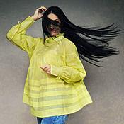 """Одежда handmade. Livemaster - original item Стильная блузка oversize оригинального кроя """"Летнее солнце"""". Handmade."""