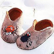 """Обувь ручной работы. Ярмарка Мастеров - ручная работа Тапочки """" Паучки """". Handmade."""