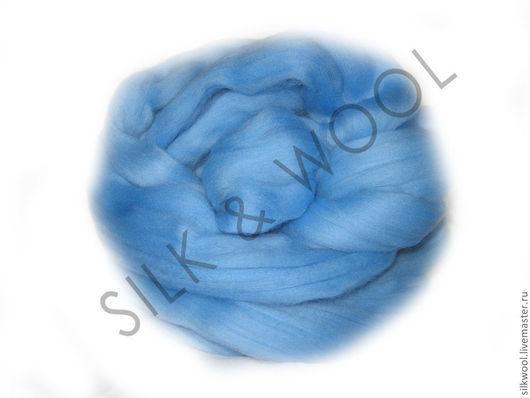 """Валяние ручной работы. Ярмарка Мастеров - ручная работа. Купить 100 г Цвет """"Светло-голубой"""". Троицкая тонкая шерсть мериноса. Handmade."""