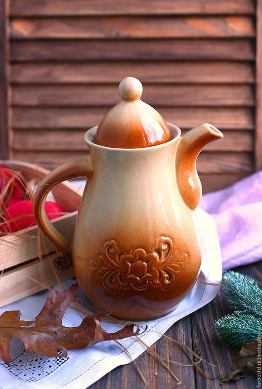 Винтажная посуда. Ярмарка Мастеров - ручная работа. Купить Кофейник. Handmade. Бежевый, винтажный стиль, чайник заварочный, продаю
