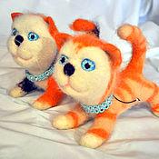 Куклы и игрушки handmade. Livemaster - original item Felted cat ginger tailed. Handmade.