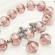 Украшения handmade. Livemaster - original item Cherry summer - a necklace and earring set lampwork. Handmade.