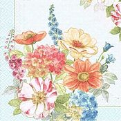 Цветы коттедж (COTT) - салфетка для декупажа