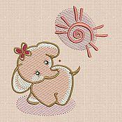 Материалы для творчества handmade. Livemaster - original item Machine Embroidery Design by Elephant bt009. Handmade.