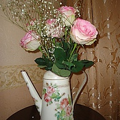"""Для дома и интерьера ручной работы. Ярмарка Мастеров - ручная работа Леечка-ваза """"Ах, эти розы, розы..."""". Handmade."""