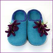 """Обувь ручной работы. Ярмарка Мастеров - ручная работа Тапочки """"Колокольчики"""". Handmade."""