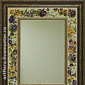 Для дома и интерьера handmade. Livemaster - original item Mirror Pansy-Painted ceramics.. Handmade.