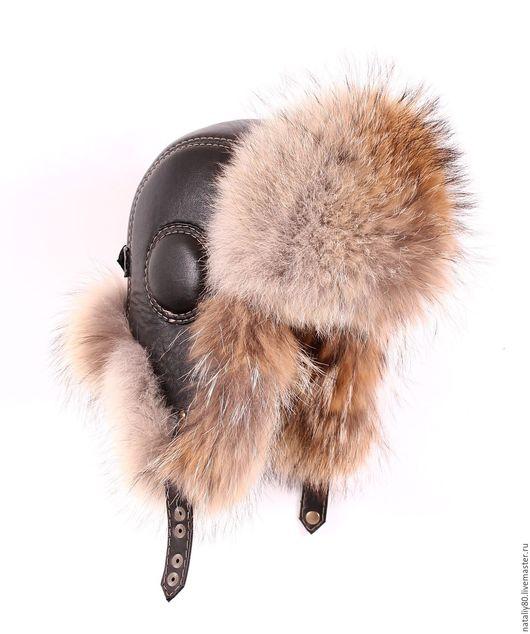 Шапки ручной работы. Ярмарка Мастеров - ручная работа. Купить Мужская  шапка ушанка из волка  (Канада) GLX. Handmade.