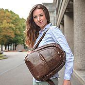 Сумки и аксессуары handmade. Livemaster - original item Backpacks: Backpack leather women`s brown ash Mod R43-622. Handmade.