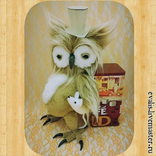 Игрушки животные, ручной работы. Ярмарка Мастеров - ручная работа. Купить Совушка, Мышь и Шляпа. Handmade. Бежевый, флис