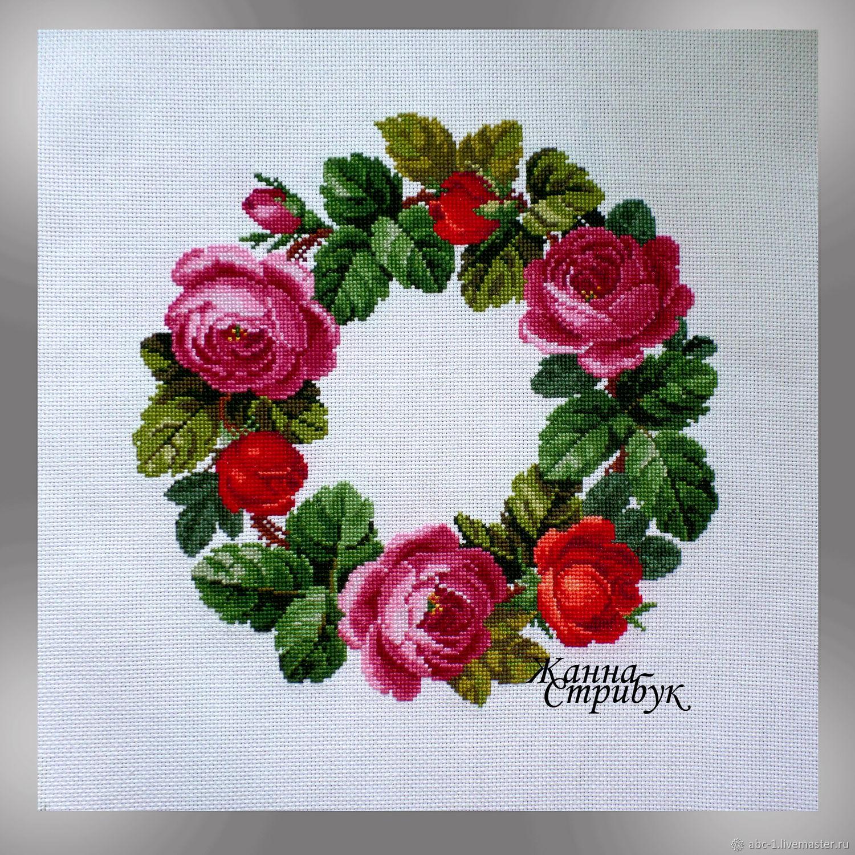 Венок из роз вышивка схема 45