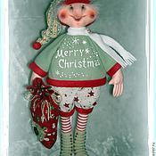 Куклы и игрушки ручной работы. Ярмарка Мастеров - ручная работа Кукла. Рождественский Эльф. Handmade.