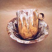 Посуда ручной работы. Ярмарка Мастеров - ручная работа Набор посуды Кружка и Пиала. Handmade.
