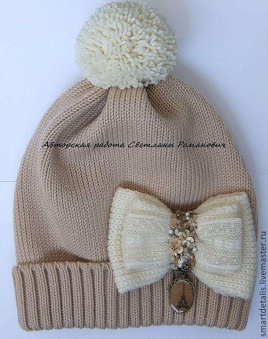 Шапки и шарфы ручной работы. Ярмарка Мастеров - ручная работа. Купить Детская мериносовая шапочка  для девочки. Handmade.