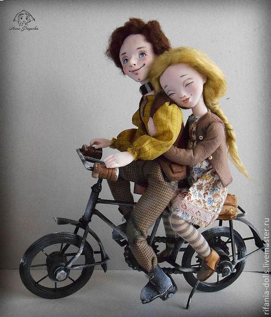 Коллекционные куклы ручной работы. Ярмарка Мастеров - ручная работа. Купить Велосипедисты. Handmade. Парочка, подарок, ручная работа, ЛивингДолл