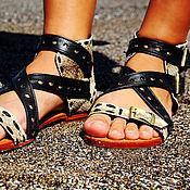 Обувь ручной работы handmade. Livemaster - original item Leather sandals