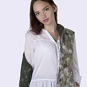 Одежда handmade. Livemaster - original item Felt vest sheep`s curls. Ekostil. Handmade.