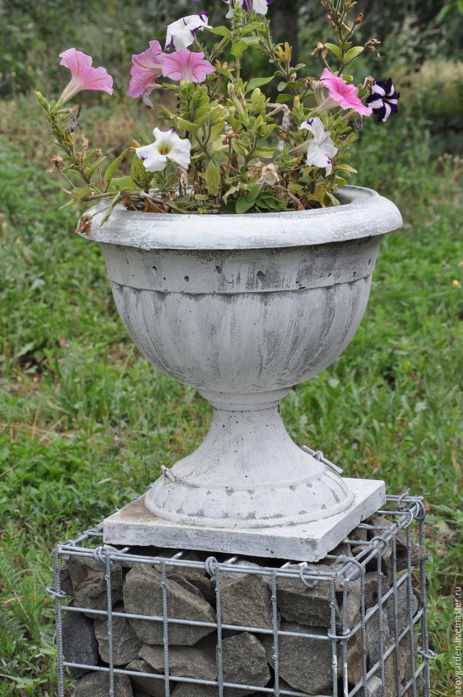 Antique vase made of concrete, terracotta, pot-glass pot garden ...
