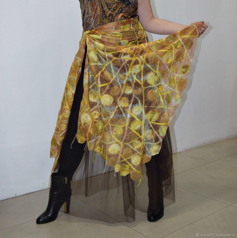 Delicate stole of natural silk Author's design Gift, Wraps, Krasnoyarsk,  Фото №1