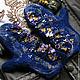 """Варежки, митенки, перчатки ручной работы. Ярмарка Мастеров - ручная работа. Купить Валяные варежки """"Dark blue"""". Handmade. Варежки"""
