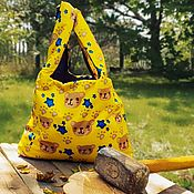 Сумки и аксессуары handmade. Livemaster - original item Bag - package double-sided: bears. Handmade.